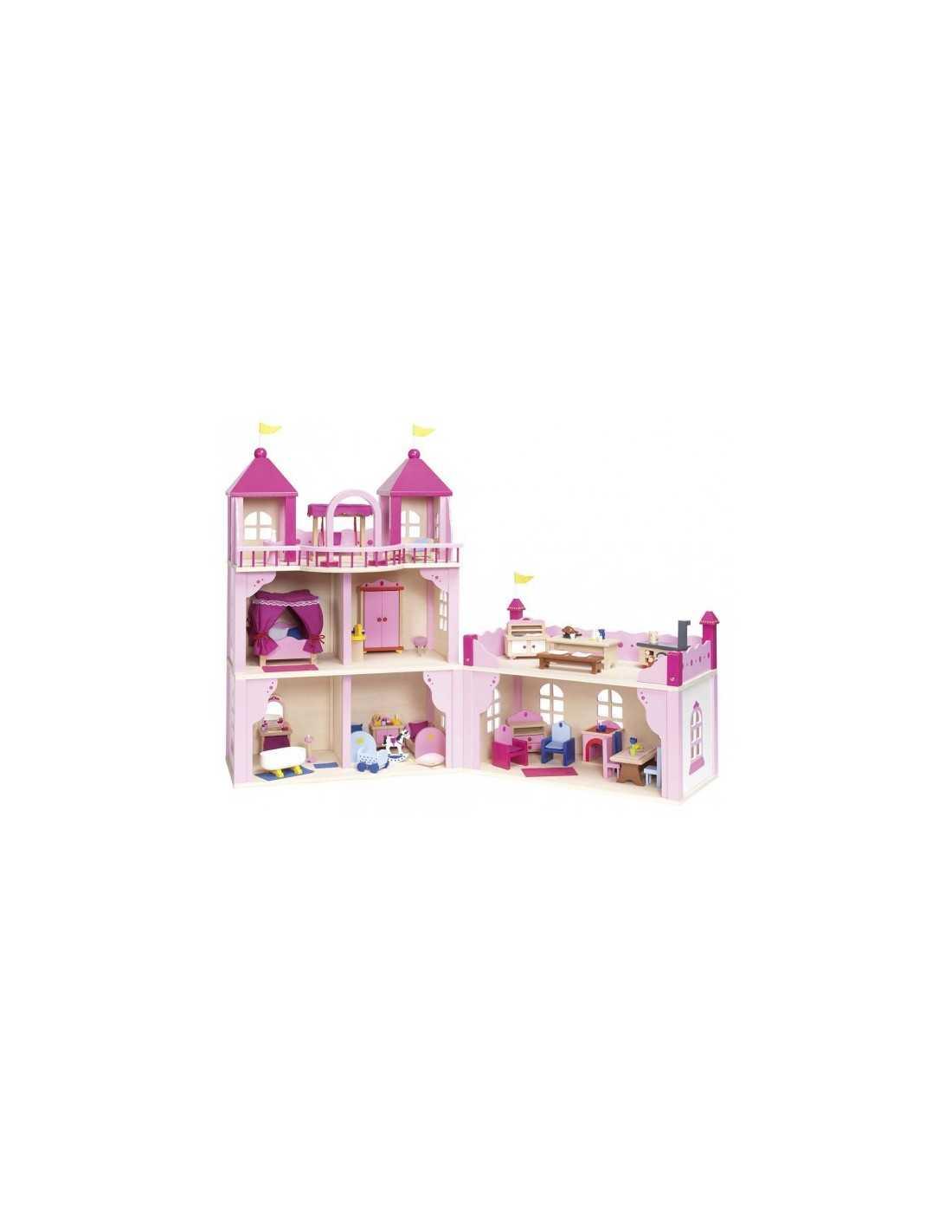 GOKI Maison de princesse, château de princesse en bois MES TENDANCES BIO