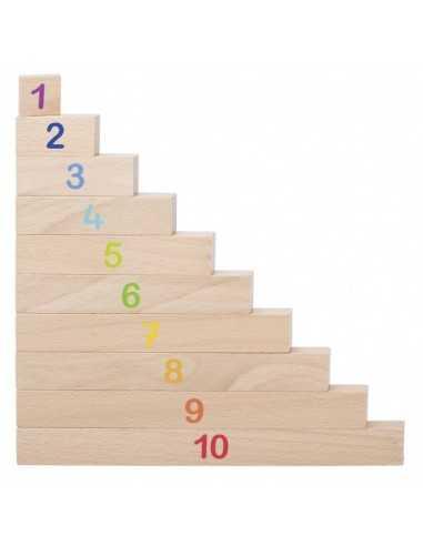 Réglettes de calcul en bois inspiration Montessori