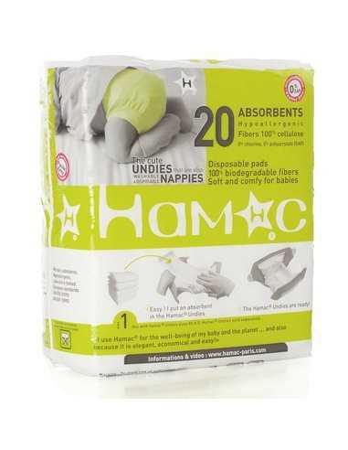 20 absorbants jetables pour couches lavables Hamac
