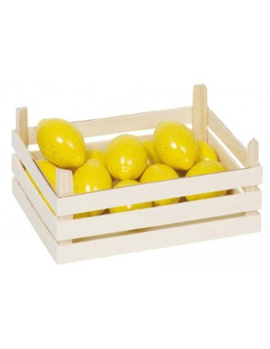 Cagette en bois Citrons GOKI