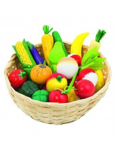 Corbeille Fruits et légumes en bois GOKI
