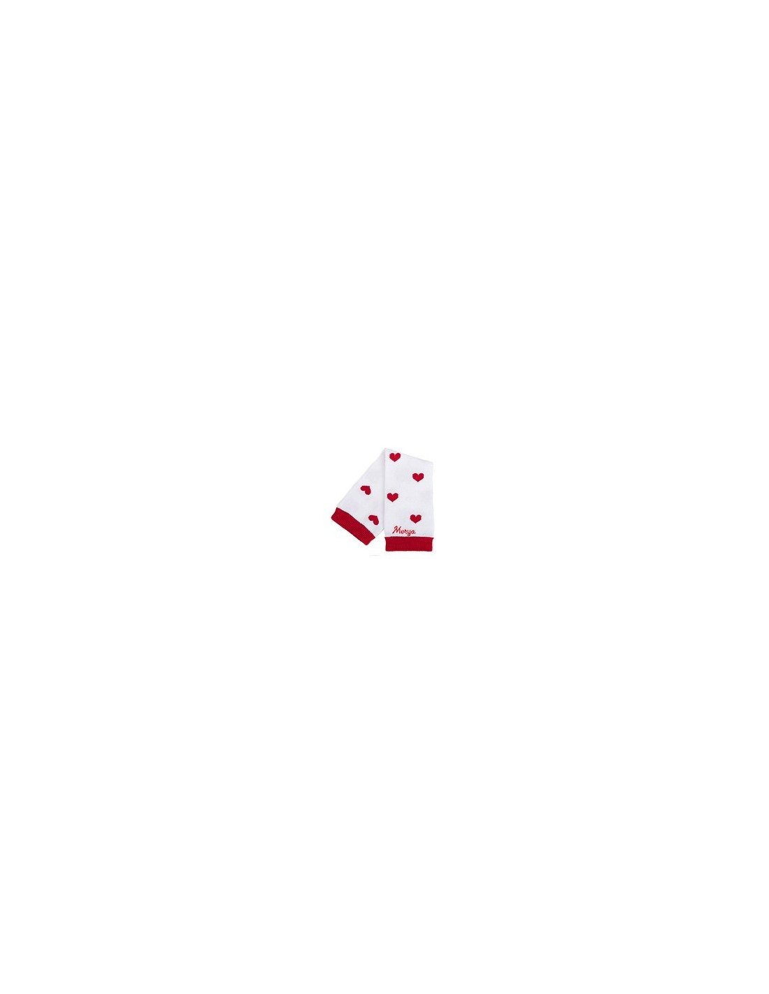 Jambières Coeur rouge et Blanc Merya - Mestendancesbio.com portage 0bcb68ecc71
