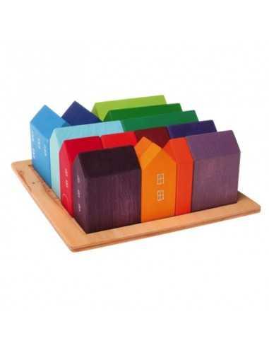 15 maisons colorées en bois GRIMM'S