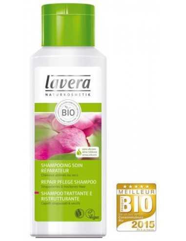 Shampoing Soin Réparateur au Lait de Rose 200 ml LAVERA