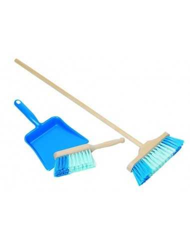 Balai et pelle à poussière bleu Montessori