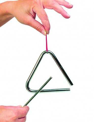 Triangle avec baguette en métal Goki