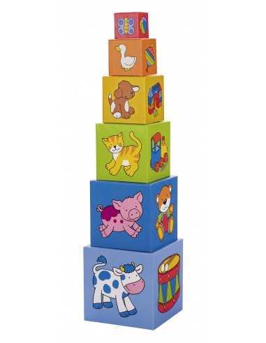 Tour à empiler 6 Cubes Goki
