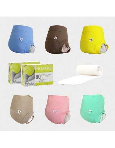 Pack couche lavable - coton bio - Hamac