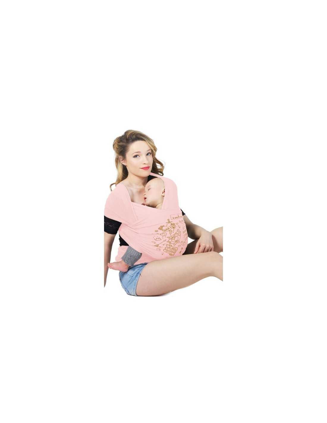 a948c225dc3b Echarpe de portage Basic Rose Nude Tattoo Gold JPMBB - MES TENDANCES BIO