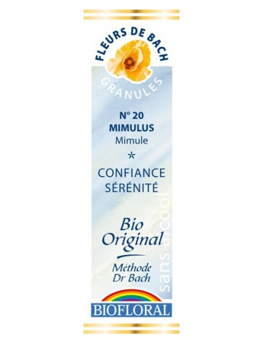 Mimulus Granules Fleur de Bach BIOFLORAL