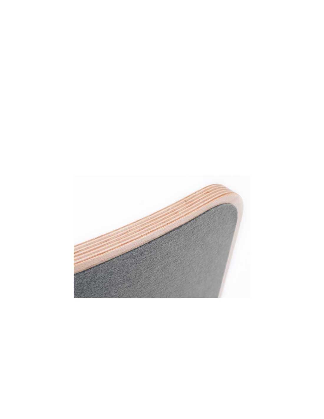 Wobbel planche d 39 quilibre en bois laqu gris anthracite for Planche bois gris