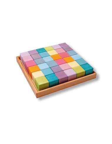 Cubes de Construction Pastel GRIMM'S - MES TENDANCES BIO