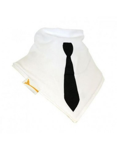 Bavoir Bandana Blanc avec cravate FUNKY GIRAFFE