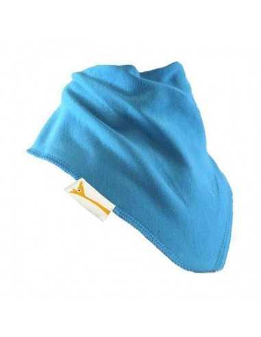 Bavoir Bandana Bleu Turquoise FUNKY GIRAFFE - MES TENDANCES BIO