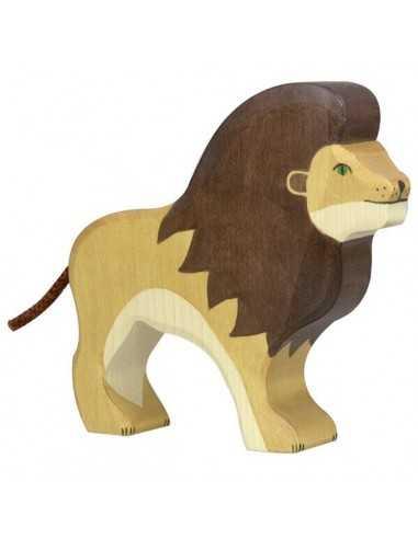 lion-en bois-holztiger-mes-tendances-bio