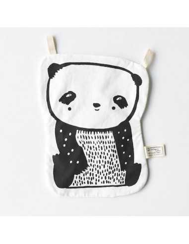 Grand Doudou Plat Panda en coton Bio WEE GALLERY