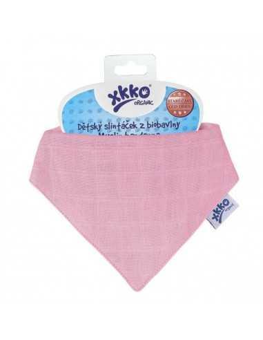 bavoir-bandana-en-coton-bio-rose-poudree-xkko-mes-tendances-bio