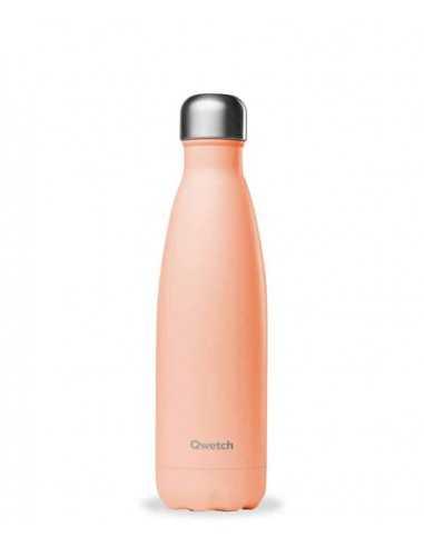 bouteille-inox-isotherme-500ml-pastel-peche-qwetch-mes-tendances-bio