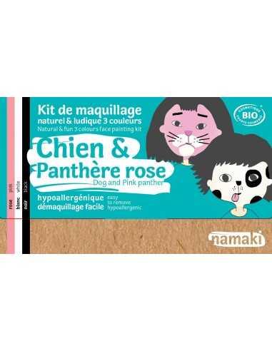 Maquillage bio pour enfants déguisements chien et panthère rose NAMAKI