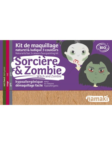 Maquillage bio pour enfants déguisements Sorcière et zombie NAMAKI