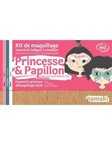 Maquillage bio pour enfants déguisements Princesse et papillon NAMAKI
