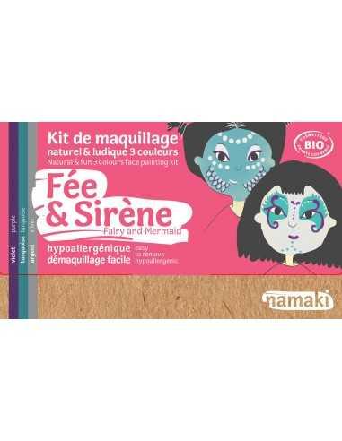 Maquillage bio pour enfants déguisements Fée et sirène NAMAKI