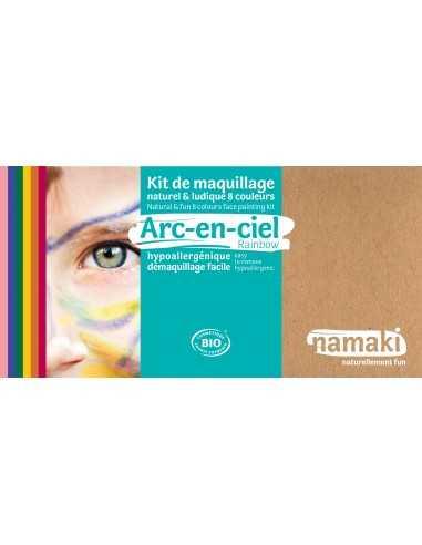 Maquillage bio pour enfants déguisements Arc en ciel 8 couleursNAMAKI