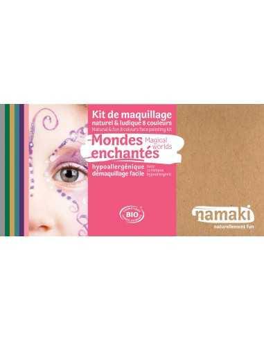 Maquillage bio pour enfants  Mondes enchantés 8 couleurs NAMAKI
