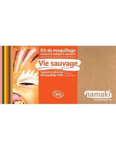 Maquillage bio pour enfants  Vie sauvage 8 couleurs NAMAKI