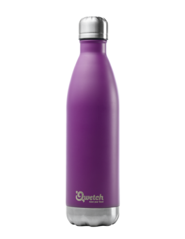 Bouteille isotherme inox pourpre 750 ml QWETCH