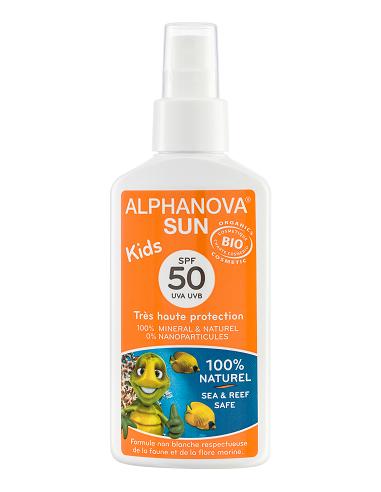 Lait solaire bio enfant Spray ALPHANOVA