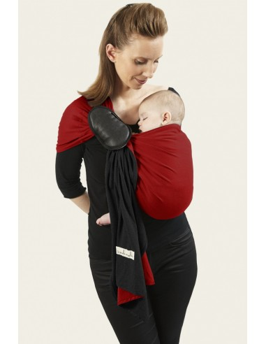 Petite écharpe sans noeud Scarlett Noir et rouge  PESN JPMBB