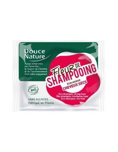 Fleur de shampooing  cheveux secs sans sulfate DOUCE NATURE